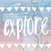 World Traveler Explore Framed Print