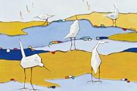 Marsh Egrets VI Fine-Art Print