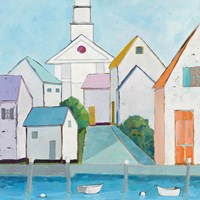 Harbor Town III no Sign Fine-Art Print