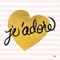 Jadore Black and Gold Fine-Art Print