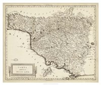 Antique Map of Tuscany Fine-Art Print