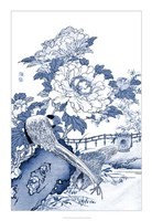Blue & White Asian Garden II Fine-Art Print