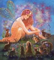 Fairy And The Velveteen Rabbit Fine-Art Print
