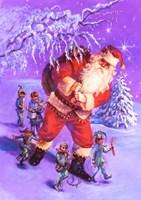 Santa And Elves Fine-Art Print