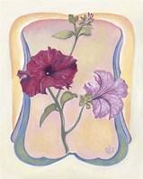 Art Deco Petunias Fine-Art Print