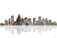 Charlotte NC Skyline BW 1 Fine-Art Print