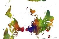 Upside Down Map Of The World Clr 1 Fine-Art Print