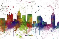 Atlanta Georgia skyline Multi Colored 1 Fine-Art Print