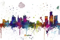 Boston Mass Skyline Multi Colored 1 Fine-Art Print