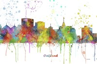 Oakland California Skyline Multi Colored 1 Fine-Art Print