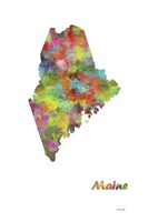 Maine State Map 1 Fine-Art Print