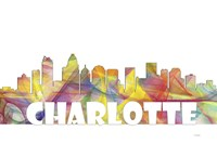 Charlotte NC Skyline Multi Colored 2 Fine-Art Print