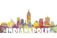 Indianapolis Indiana Skyline Multi Colored 2 Fine-Art Print