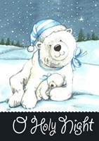 Polar Bear Holy Night Fine-Art Print