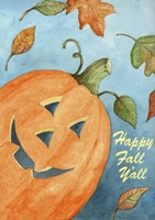 Pumpkin Happy Fall Y'all Fine-Art Print