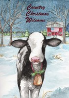 Country Christmas Cow Flag Fine-Art Print
