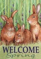 Bunnies Welcome Spring Fine-Art Print
