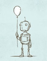 Robot Balloon Fine-Art Print
