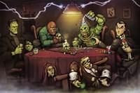 Monsters Playing Poker Fine-Art Print