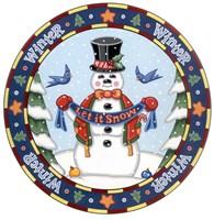 Apple Snowman Fine-Art Print