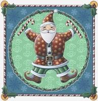 Santa & Snowflakes Fine-Art Print
