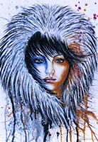 Fire and Ice Girl Portrait Fine-Art Print