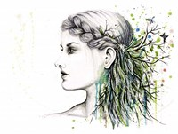 Forest Lover Girl Portrait Fine-Art Print