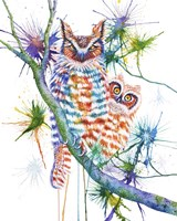 Momma and Baby Owl Fine-Art Print