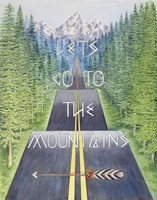 Mountain Travel Quote Fine-Art Print