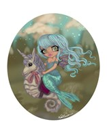 Turquoise Mermaid Fine-Art Print