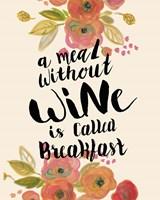 Wine Breakfast Print Fine-Art Print