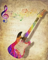 Color Music Guitar Fine-Art Print