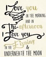 Love You In Morning Fine-Art Print