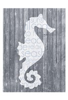 Seahorse Wood Panel Fine-Art Print