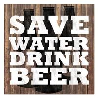 Save Water Fine-Art Print