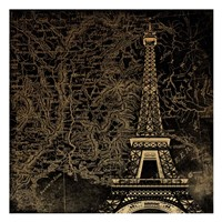 Eiffel Map Fine-Art Print
