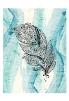 Henna Feather 1 Fine-Art Print