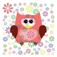 Owls and Flowers Fine-Art Print