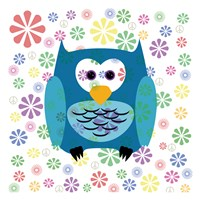 Owls and Flowers 2 Fine-Art Print