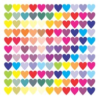 Groovy Love Pattern 2 Fine-Art Print