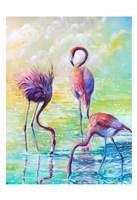 Flamingo Family 1 Fine-Art Print