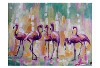 Flamingo Rondevu 1 Fine-Art Print