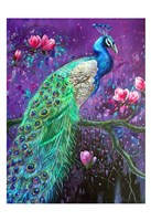 Botanical Peacock 1 Fine-Art Print