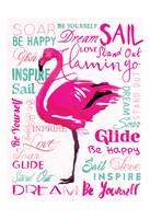 Wordy Flamingo Fine-Art Print