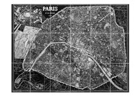 Paris Map BW Fine-Art Print