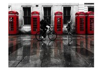 London Phone Booths People Fine-Art Print