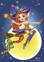 Witch on a Broom Fine-Art Print