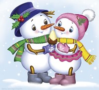 Two Snowmen Fine-Art Print