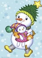 Snow Girl with a Doll Fine-Art Print