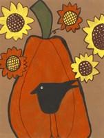 Primitive Pumpkin Fine-Art Print